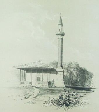 Gravura Mangalia Dobrogea Louis Hector de Bearn Quelques souvenirs de Turquie Paris 1839