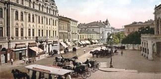 Piața Teatrului din București pe la 1915
