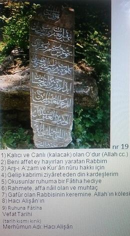 inscriptie turca