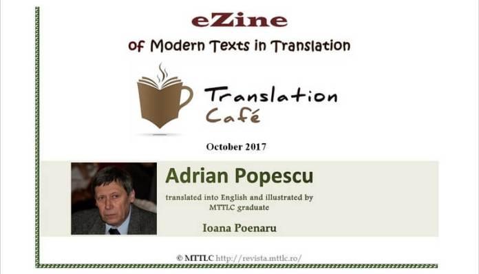 poeme de adrian popescu traduse in engleza