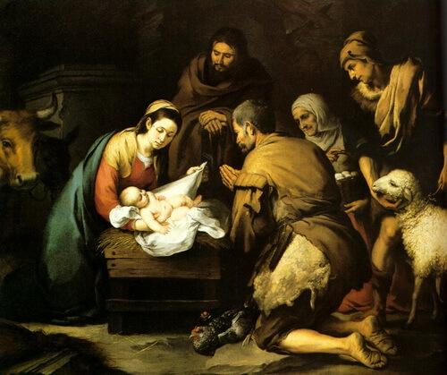 Bartolomé Esteban Murillo-adoracion_de_los_pastores, 1668