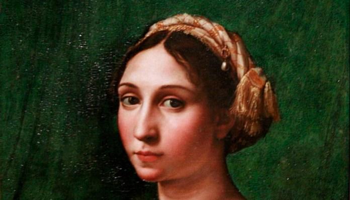 """Rafael, """"Portret de tânără"""" (detaliu), 1515–1520"""