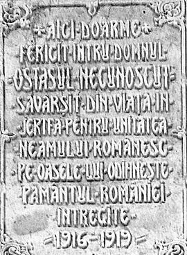 inscriptie mormant ostas necunoscut leviathan.ro
