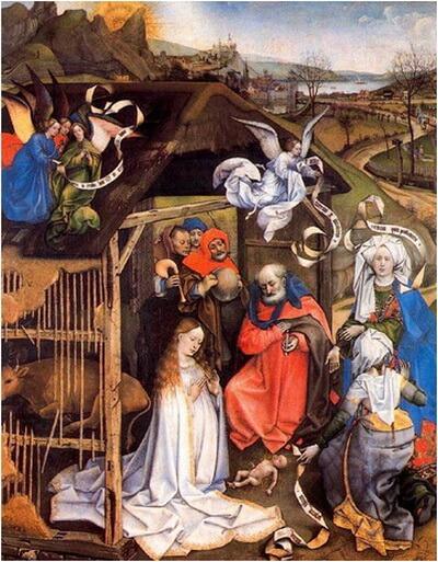robert campin 1420 natividad