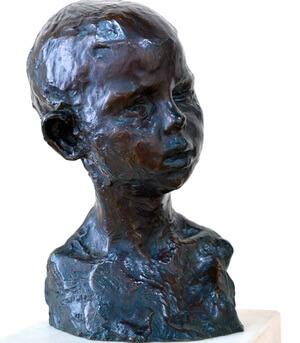 "Constantin Brâncuși 19 februarie 1876, Hobița, România–16 martie 1957 , ""Cap de copil"" Paris"