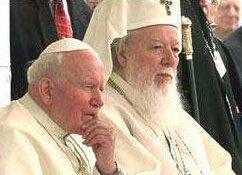 Patriarhul Teoctist și Papa Ioan Paul ai II-lea