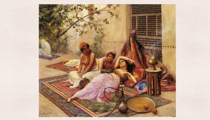 """urfet sachir Fabbio Fabbi, """"Fete în harem"""", 1861"""