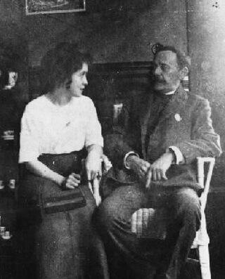 Cella Delavrancea și I. L. Caragiale. Sursa foto www.stelian-tanase.ro