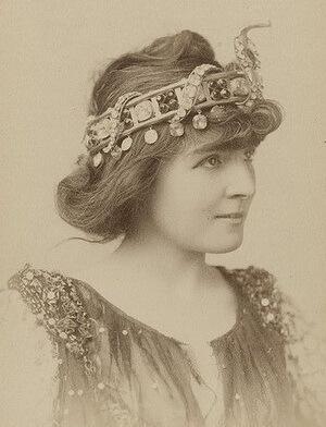 Cora Urquhart Potter în rolul Cleopatrei, 1889. Fotografie de Napoleon Sarony