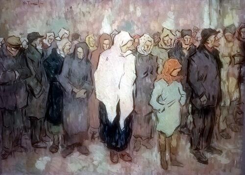 """Nicolae Tonitza, """"Coadă la pâine"""""""