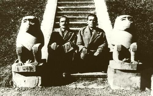 Nikos Kazantzakis și Panait Istrati. Arhiva Muzeul Brăilei