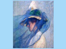 """Edmund Charles Tarbell, """"Vălul albastru"""", 1898"""