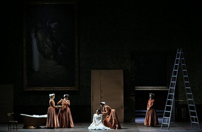 """Imagine din spectacol """"I Capuleti e i Montecchi"""", Teatro Nacional de São Carlos, Lisabona cronica Gheorghe Miletineanu"""