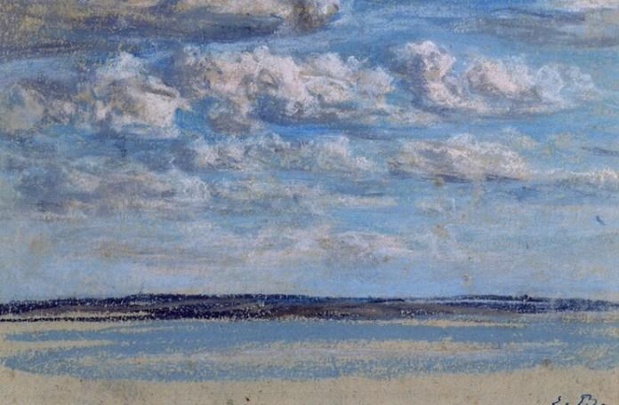 """Dori Lederer proza Eugène Boudin, """"Nori albi pe cerul albastru"""", 1854–1859"""