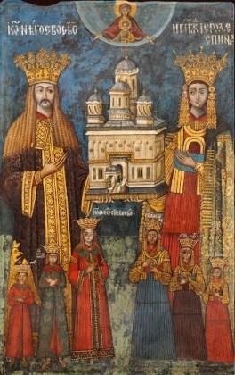 Familia domnitorului Neagoe Basarab, tablou votiv, biserica mănăstirii Curtea de Argeș