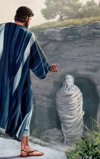 Iisus îl învie pe Lazăr