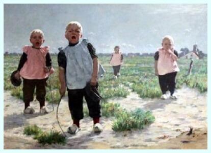 "Walter MacEwen (1860–1943), pictor american, ""Chemându-i aici"""