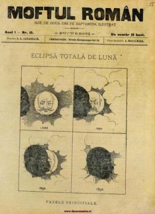 """""""Moftul român"""", seria I, nr. 15, 1893 [nedatat], p. 1. Sursa Bbilioteca Digitală a Bucreștiului"""