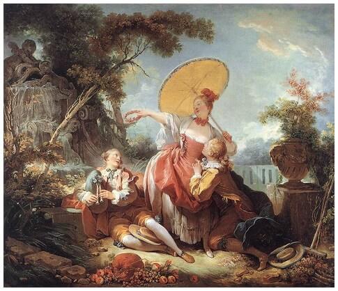 """""""Concursul muzical"""", c. 1754"""