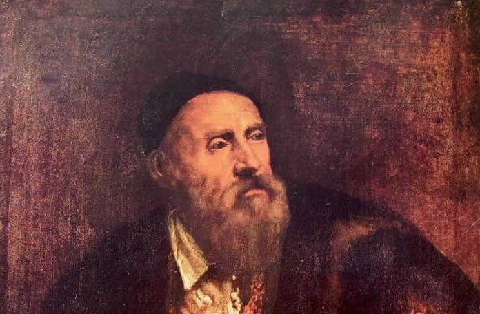 Costin Tuchilă Tițian, Autoportret (fragment),1552, Staatliche Museen, Berlin