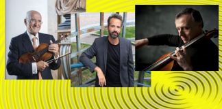 """Salvatore Accardo, Peter Jablonski, Rapahel Wallfish. Sursa foto site-ul Concursului """"Enescu"""""""