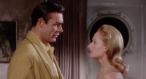 """Tippi Hedren și Sean Connery în """"Marnie"""", regia Alfred Hitchcock, 1964"""