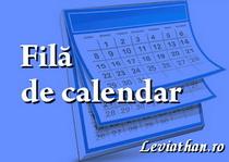 fila de calendar rubrica leviathan.ro