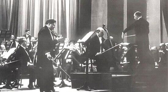 George Enescu, Pablo Casals, George Georgescu, Orchestra Filarmonicii din București, 1939