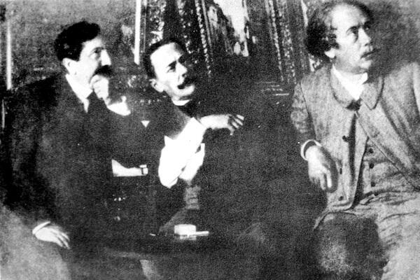 Vlahuță, Caragiale și Delavrancea în jurul anului 1900