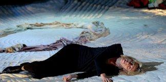 """Maria Râbasova in """"Medeea"""" de Jean Anouilh, Teatrul Vahtangov din Moscova"""
