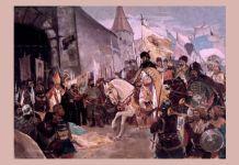 """Constantin Lecca, """"Intrarea triumfală a lui Mihai Viteazul în Alba Iulia"""""""