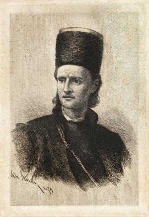 Theodor Aman, Tudor Vladimirescu, acvaforte și gravură cu acul, 1879