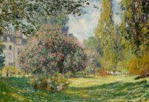 """Claude Monet, """"Parcul Monceau"""", 1876"""