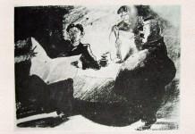 """Ilustrație de C. Jiquidi la """"O noapte furtunoasă"""""""
