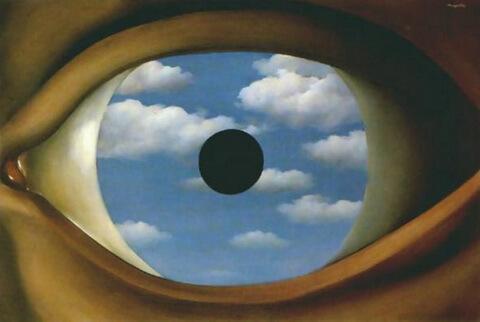 """René Magritte, """"Oglinda falsă"""""""