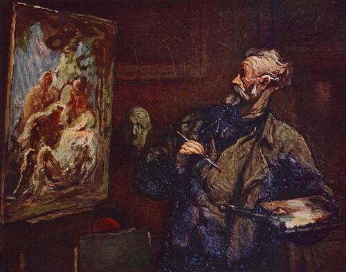 """""""Pictorul"""", 1858, Musée des Beaux Arts, Reims"""