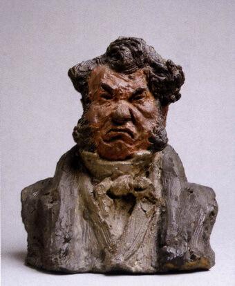 "Politicianul Laurent Cunin ""L'homme en rage"" (""Omul turbat""), 1832 – 35, Muzeul Orsay, Paris"