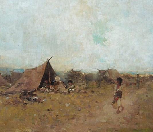 """Nicolae Grigorescu, """"Șatră"""", Muzeul de Artă din Iași"""