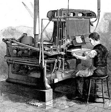 Linotip, 1889, America