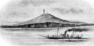 Insula Șerpilor îin 1896. Sursa foto: RADOR