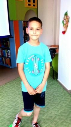 """Sabin-George Preda, 10 ani, Şcoala gimnazială """"Mihu Dragomir"""", Brăila"""