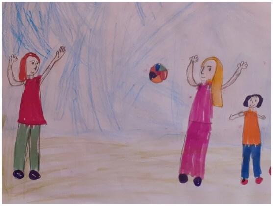 "Desene de Marina-Karina-Christine Zaharia, 10 ani, membră a grupului artistic ""Nino Nino"""