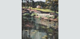 """Paul Scorțesco, """"Peisaj pe malul râului"""""""
