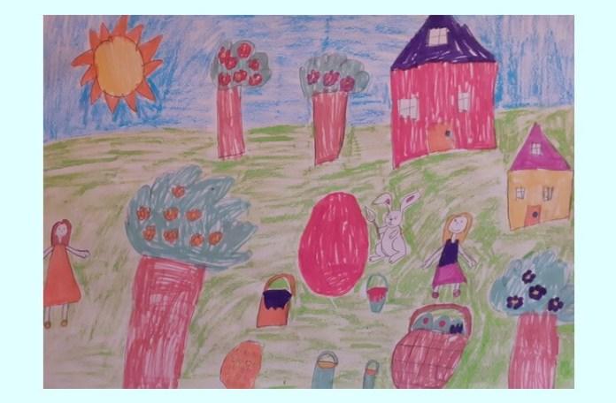 """Desen de Marina- Karina-Christine Zaharia, 10 ani, grupul artistic """"Nino Nino"""", Brăila"""