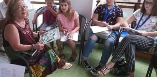 """Tudorița Tarniță și grupul artistic """"Nino Nino"""", Biblioteca Județeană """"Panait Istrati"""", Brăila, 1 august 2019"""