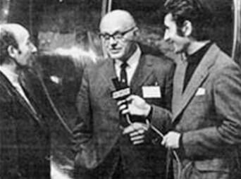 Larry Galia (stânga) şi Nicolae Costin (dreapta), pe teren