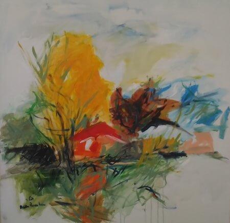 Pictura de Bella Rosenbaum din expozitia Intre două țări natale