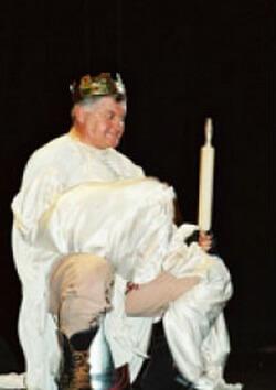 În rolul lui Falstaff la Teatrul Național din Cluj-Napoca, 1996
