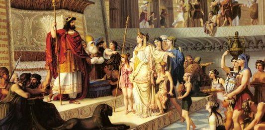"""""""Solomon și Regina din Saba"""" de Giovanni de Min (1789 – 1859)"""
