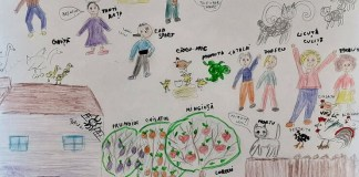 "Desen de Karina-Marina-Christine Zaharia, membră a grupului artistic ""Nino Nino"""